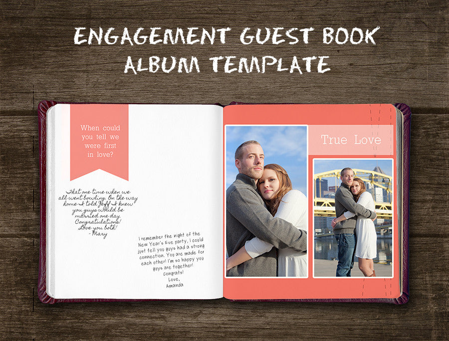 Engagement guest book album template bp4u guides engagement guest book album template pronofoot35fo Gallery