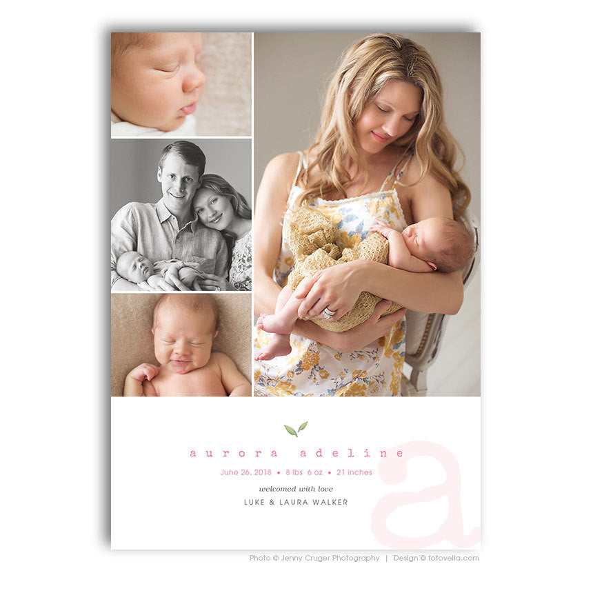 Birth Announcement Template for Photographers Baby Boy Announcement Photoshop Template
