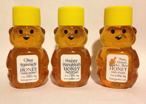 Honeygramz Honey Holiday Gift Happy Hanukkah - 3 Pack