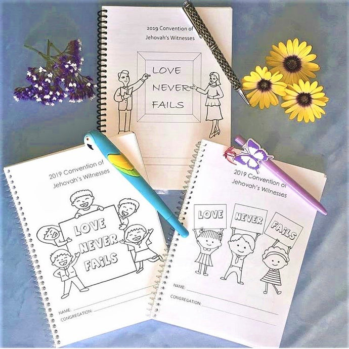 2019 Regional Convention 'Love Never Fails' Notebooks Available Now