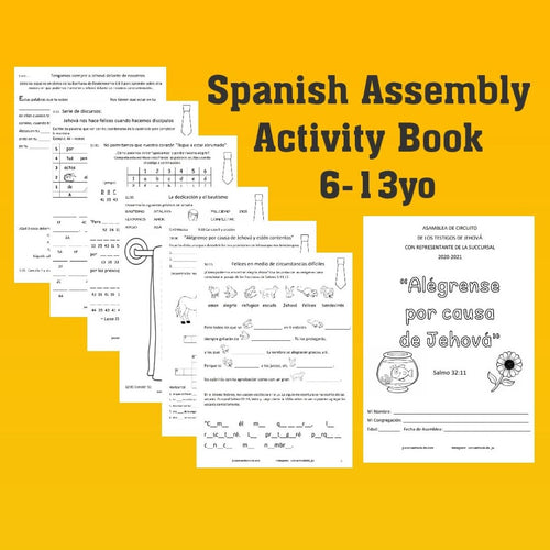 PDF SPANISH 6-13yo Rejoice in Jehovah Circuit Assembly 2020/21 with Branch Rep