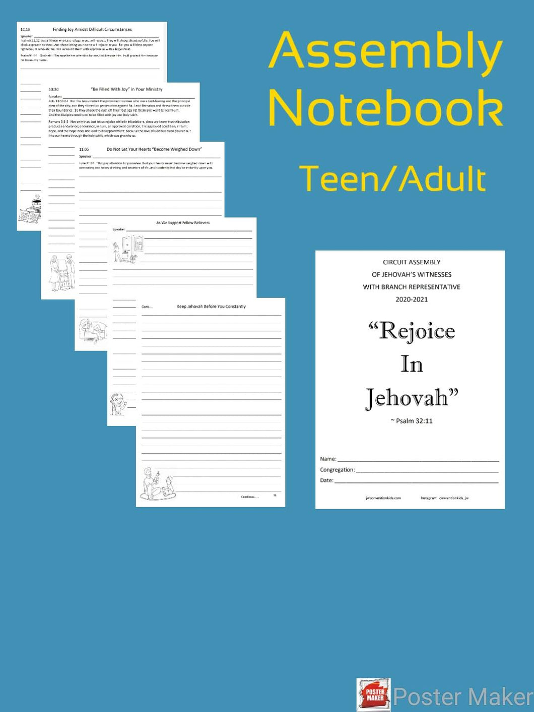 Teen/Adult Rejoice In Jehovah 2020/2021 Circuit Assembly with Branch Rep PDF