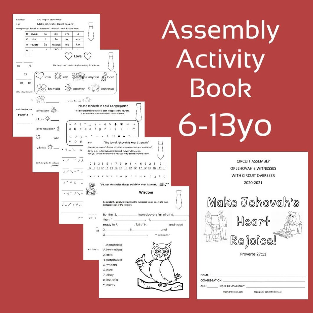 6-13yo Make Jehovah's Heart Rejoice 2020/2021 Circuit Assembly with CO PDF
