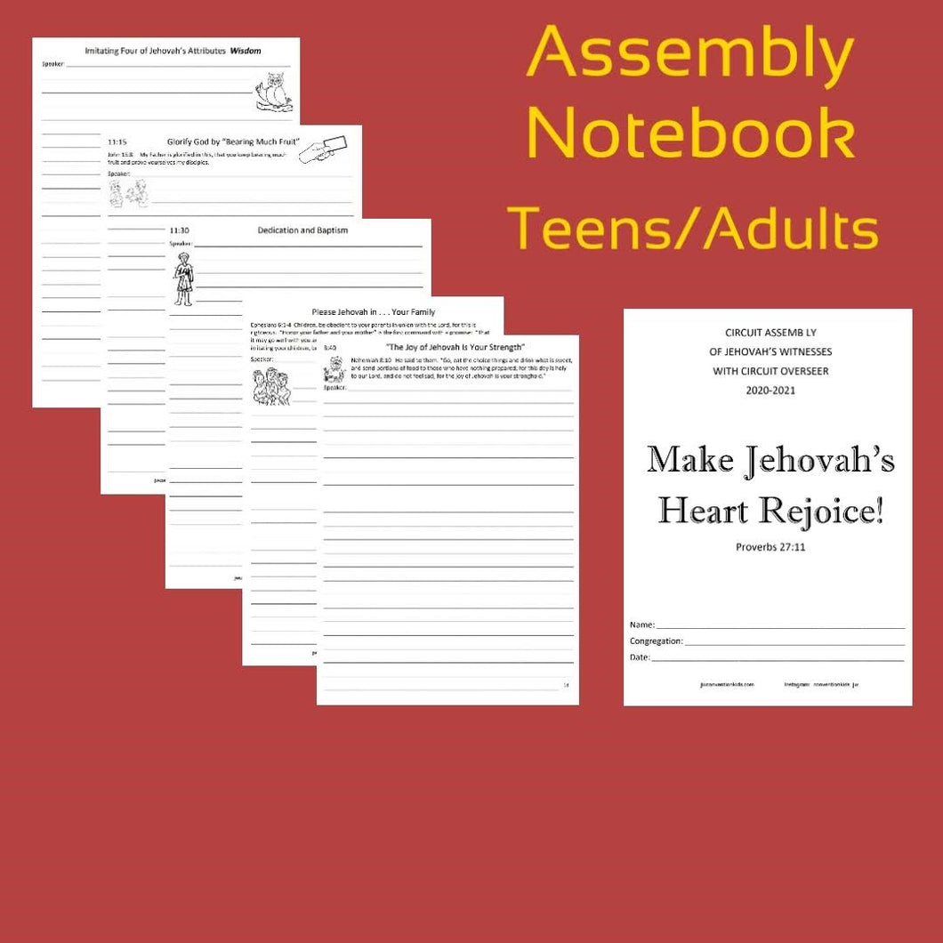 Teen/Adult Rejoice In Jehovah 2020/2021 Circuit Assembly with CO PDF
