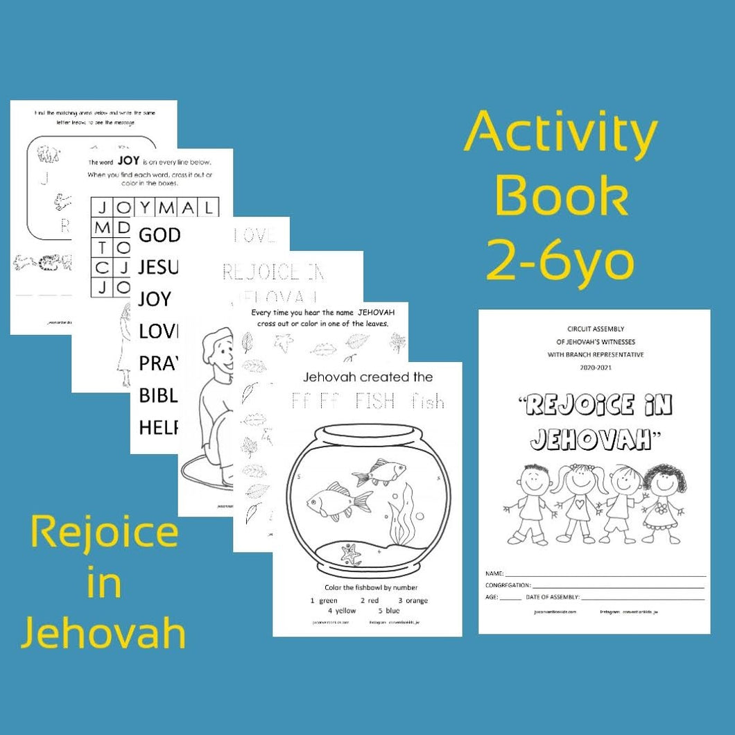 2-6yo Rejoice In Jehovah 2020/2021 Circuit Assembly with Branch Rep PDF