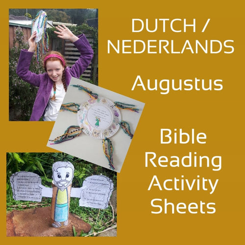 DUTCH 6-13yo August Bible Reading Worksheets PDF