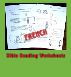 FRENCH 6-13yo August Bible Reading Worksheets PDF