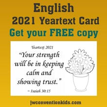 Load image into Gallery viewer, FREE English 2021 Year Text Card
