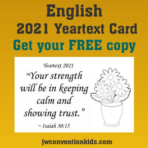 FREE English 2021 Year Text Card
