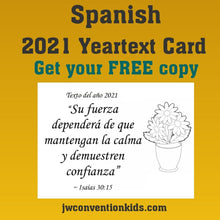 Load image into Gallery viewer, FREE Spanish 2021 Year Text Card
