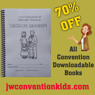 "PDF 2020 ""Always Rejoice!"" Convention Activity Book for 2-5 year old."