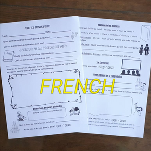 FRENCH Meeting Worksheets for kids PDF