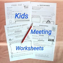 Load image into Gallery viewer, Meeting Worksheet & Service Notes for kids PDF