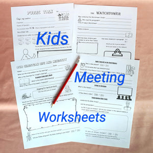Meeting Worksheet & Service Notes for kids PDF