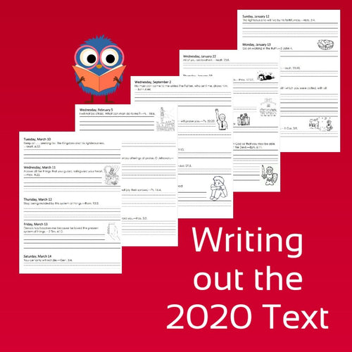 2020 Writing Out The Daily Text Notebook ENGLISH PDF