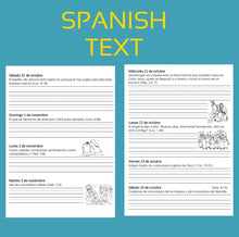 Load image into Gallery viewer, SPANISH 2020 Writing Out The Daily Text Notebook PDF