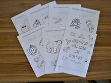 Load image into Gallery viewer, 2-6yo Bible ABC 123 & COLORS worksheets PDF