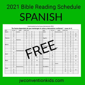 FREE SPANISH 2021 Bible Reading Schedule