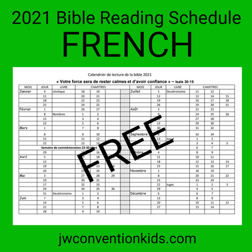 FREE FRENCH 2021 Bible Reading Schedule