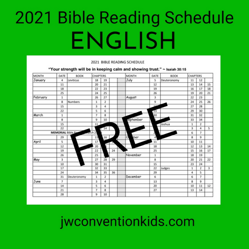 FREE PDF 2021 Bible Reading Schedule