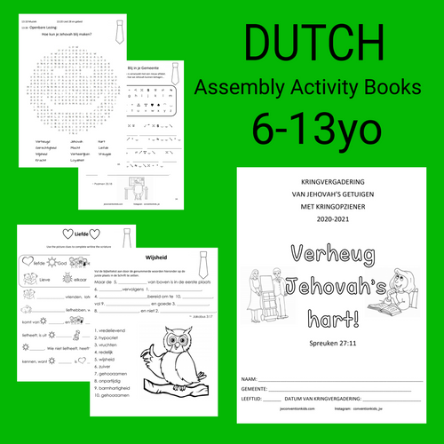 DUTCH 6-13yo Assembly Book Make Jehovah's Heart Rejoice with Circuit Overseer Nederlands
