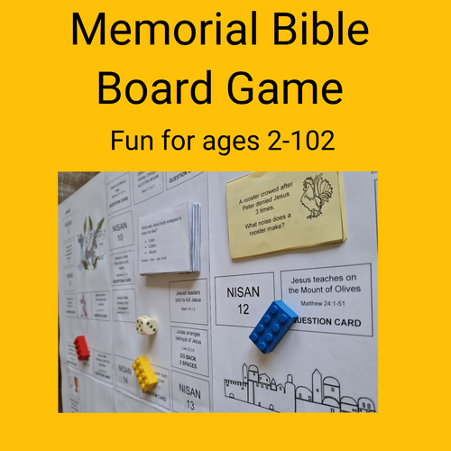 Memorial Bible Game PDF for JW Families Ages 2-102