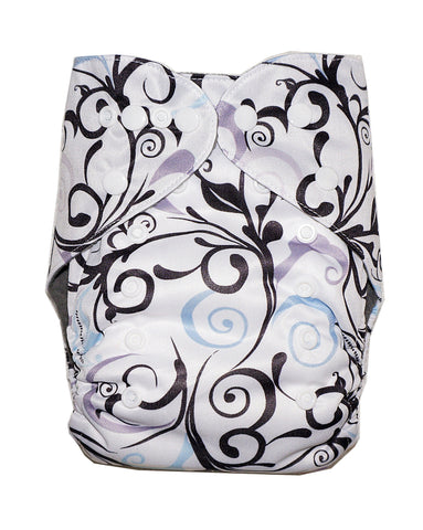 Gen2 - Black Ivy Cloth Diaper