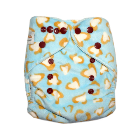 Classic - Blue Cheetah Cloth Diaper (Minky)