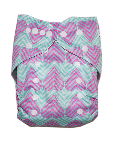 Gen2 - Heart Chevron Cloth Diaper