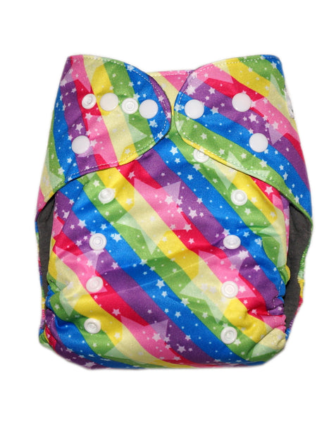 Gen2 - Rainbow Stars Cloth Diaper