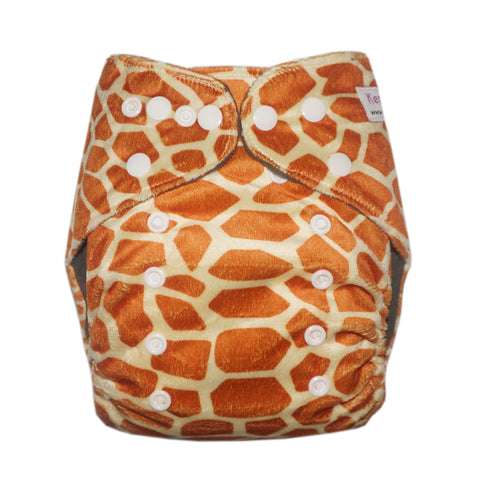 Gen2 - Giraffe (Minky) Cloth Diaper