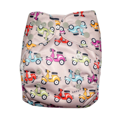 Classic - Moped Madness Cloth Diaper