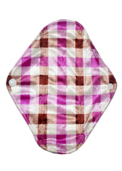 "Gingham Style (minky) Reusable Cloth 9"" Menstrual Pad"