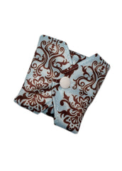 "Blue Damask Reusable Cloth 9"" Menstrual Pad"