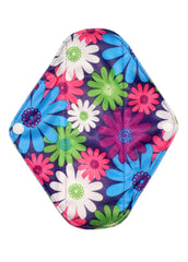 "Colorful Daisy Reusable Cloth 9"" Menstrual Pad"