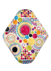 "Rainbow Dots Reusable Cloth 9"" Menstrual Pad"