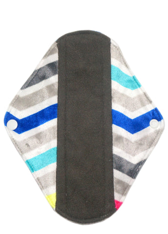 "Chevron Colors (minky) Reusable Cloth 9"" Menstrual Pad"