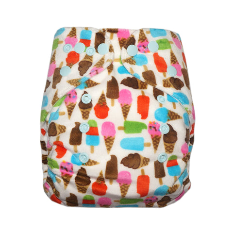 Classic - Ice Cream Cloth Diaper (Minky)