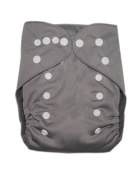 Gen2 - Solid Grey Cloth Diaper
