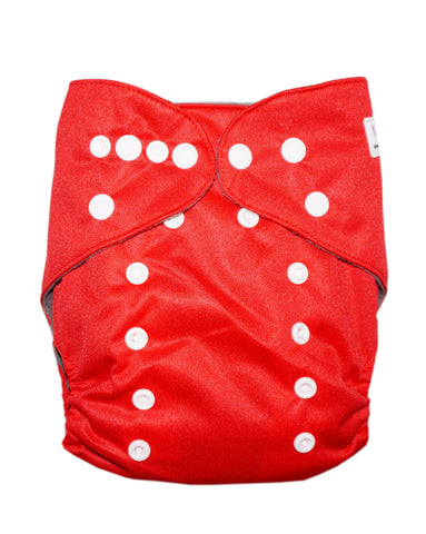 Gen2 - Solid Red Cloth Diaper