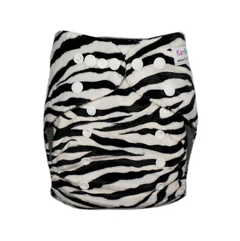 Gen2 - Zebra (minky) Cloth Diaper