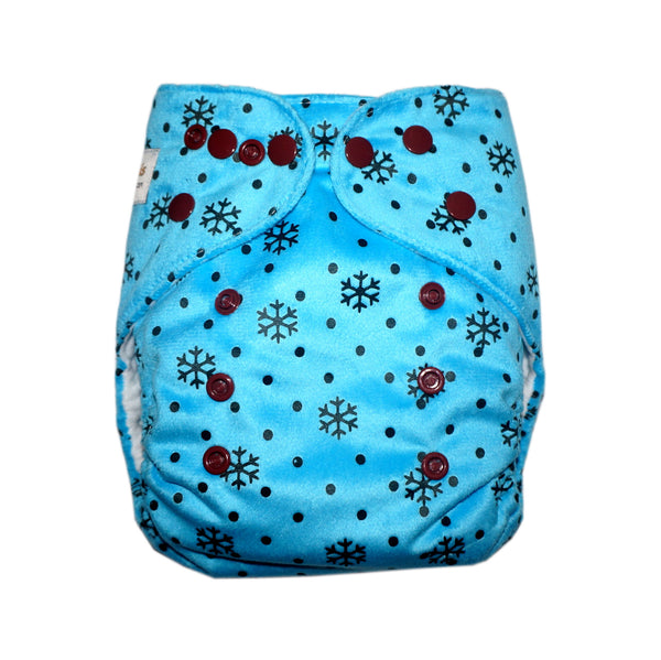 Classic - Snowflakes Cloth Diaper (Minky)