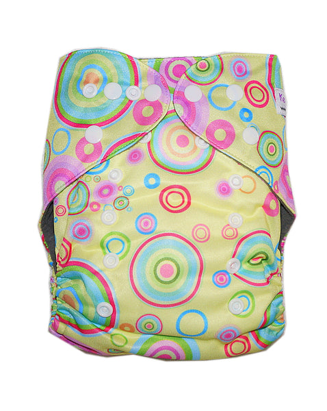 Gen2 - Yellow Ripple Cloth Diaper