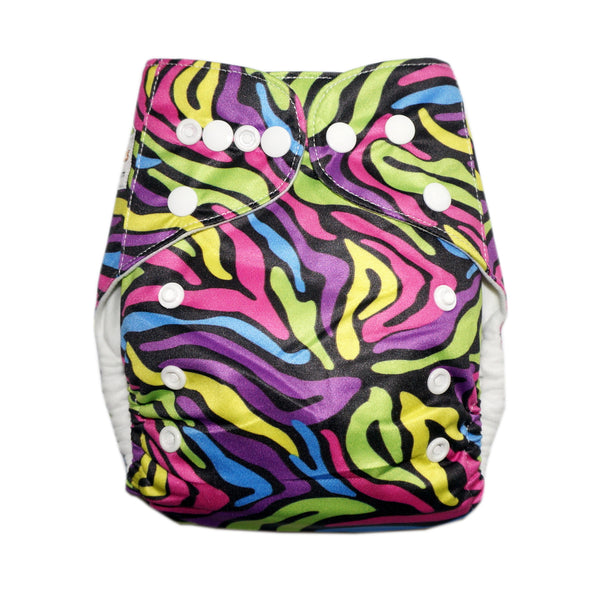 Classic - Zany Zebra Cloth Diaper