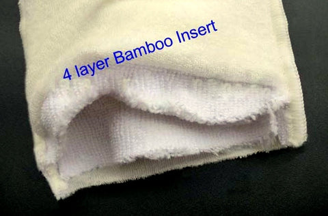 Upgrade/Replace insert to 4-layer Bamboo Blend *Classic diapers only*
