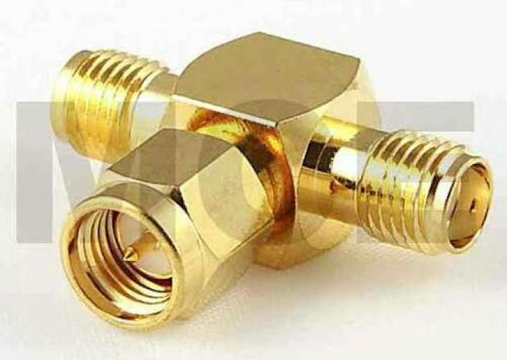 Conector SMA mail to female SMA GOLDEN