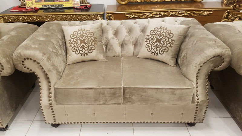 321 Chesterfield Sofa Set with 6 Cushions