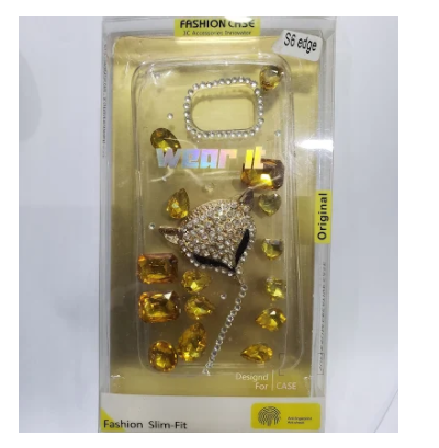 S6Edge Back Cover Transparent With Shining Diamonds-Zain Gee
