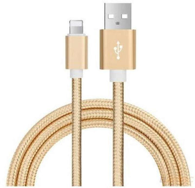 iPhone Luxury Metal Braided Mobile Phone Cables Charging USB Cable Charger Data For iPhone 5 5S 6S 6 6 plus 7 7 Plus accessories