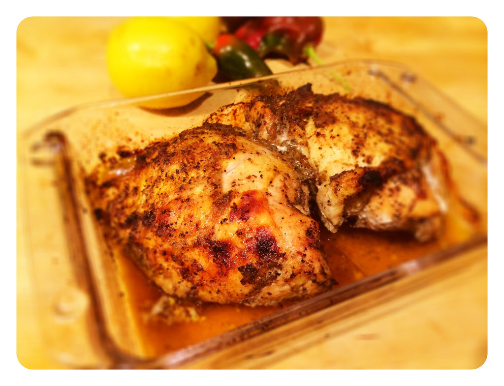 Roasted Chicken featuring Pacific Pickle Works Bloody Mary Elixir